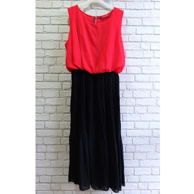 [NEW] Long Dress Theory X (Red, Pink)