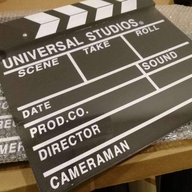 New Universal Studios Film Board Clapper
