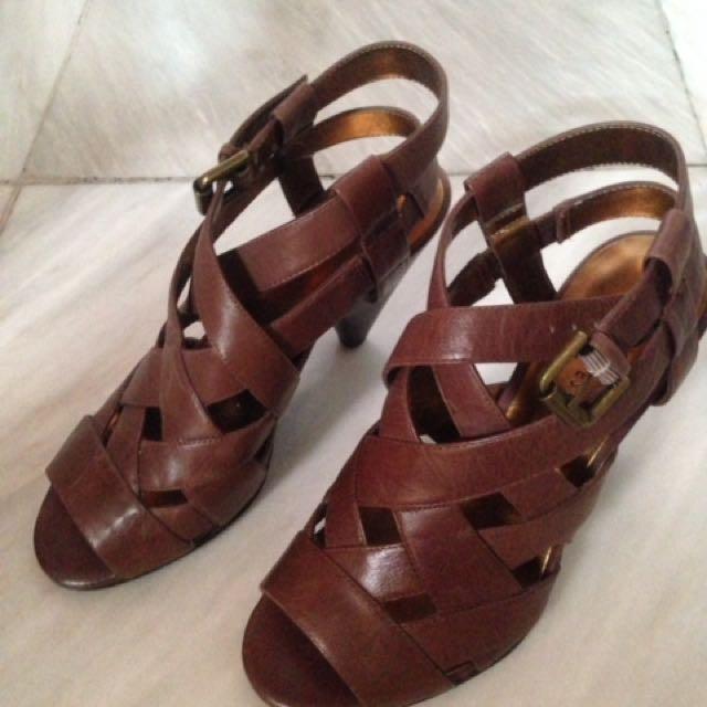 Nine West brown heeled sandals