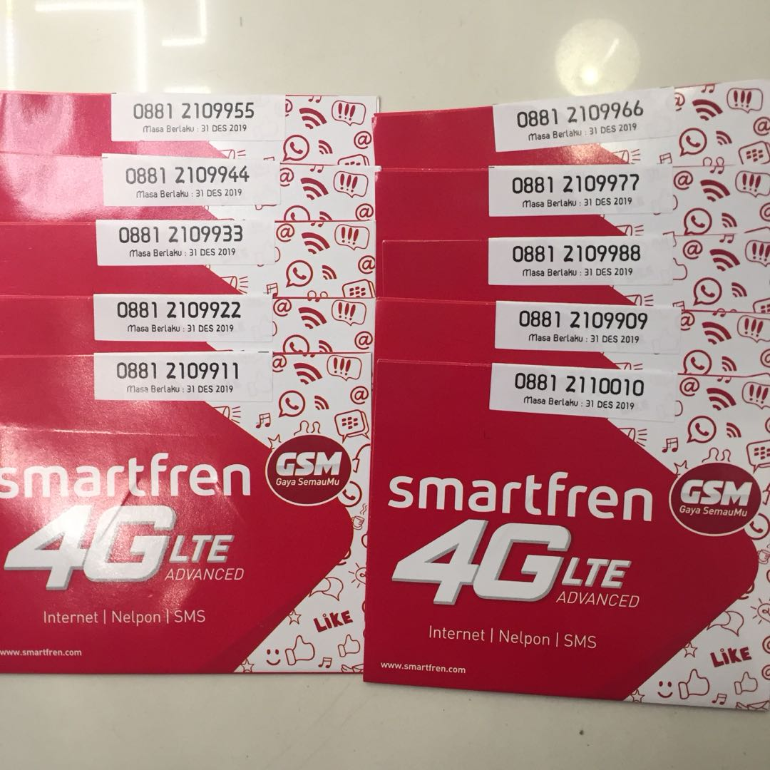 Nomor Cantik Smartfren 4g Lte Kuota 13gb Mobile Phones Tablets On