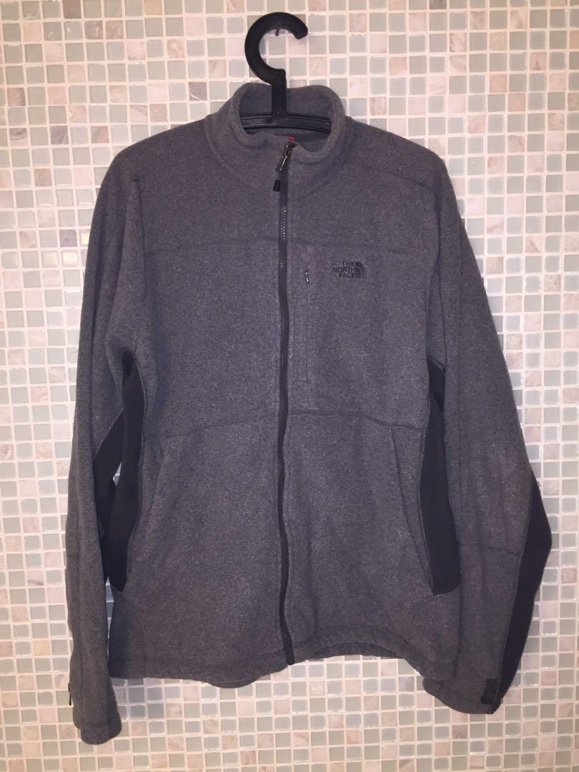 North Face fleece zip up in grey.