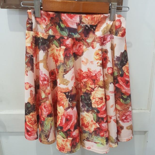 Orange flower skirt
