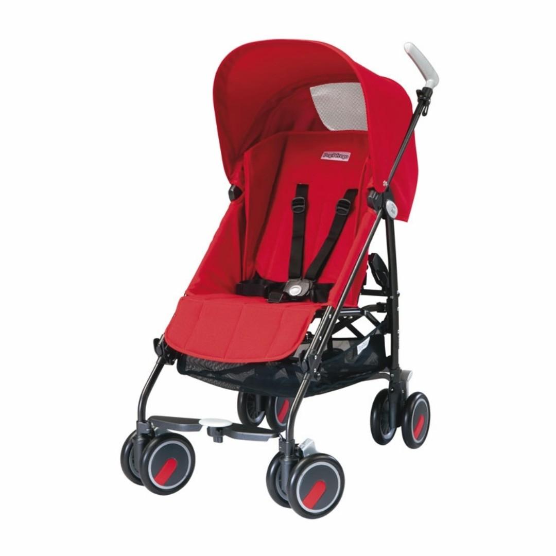 Peg Perego Pliko Mini Stroller (Fire Red)