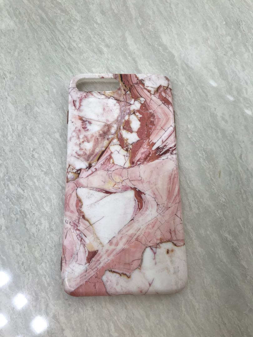 Pink Marble softcase for iph 7 plus