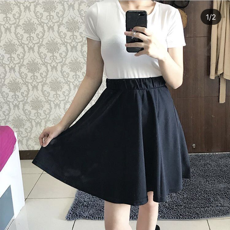 Plain Black Skirt