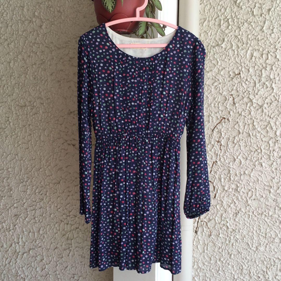 Polka dots longsleeves dress