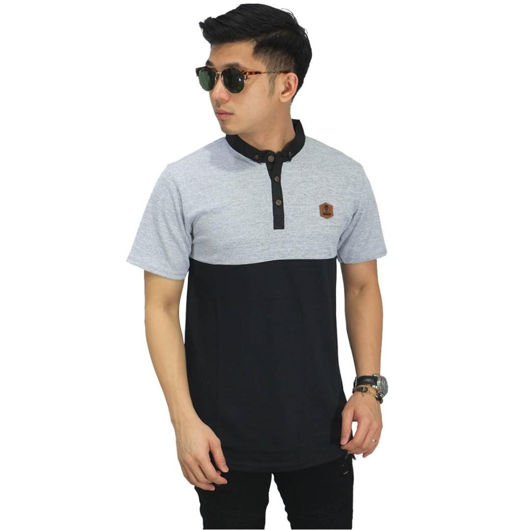 Polo shirt two tone