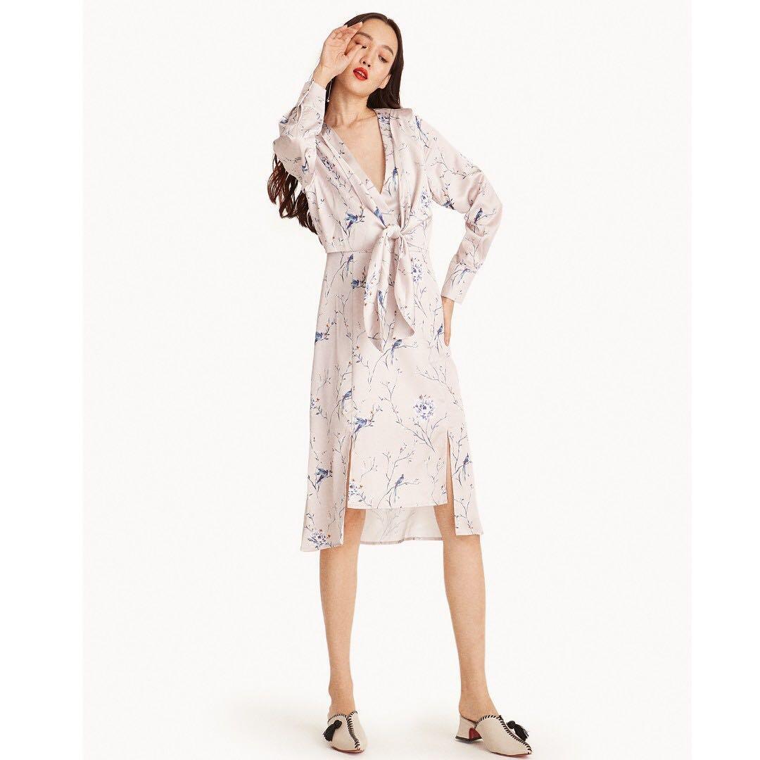 Pomelo   New  Akane Midi Floral Kimono Dress 0256c1372