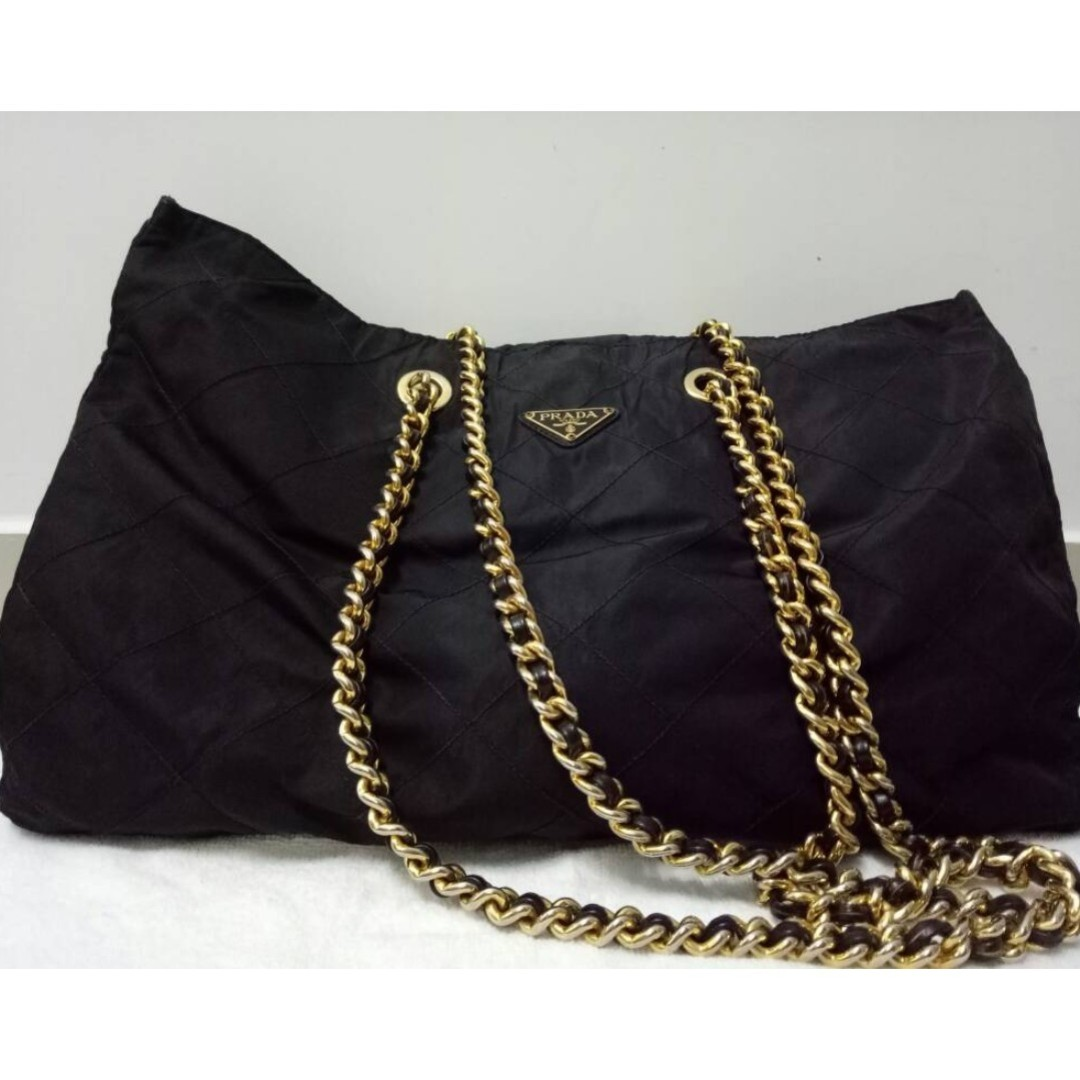 baa21cb616471e ... black 1ac6f 8fd4a buy ramadhan promotion prada xl vintage nylon chain  shoulder bag luxury bags wallets on carousell 864ea ...