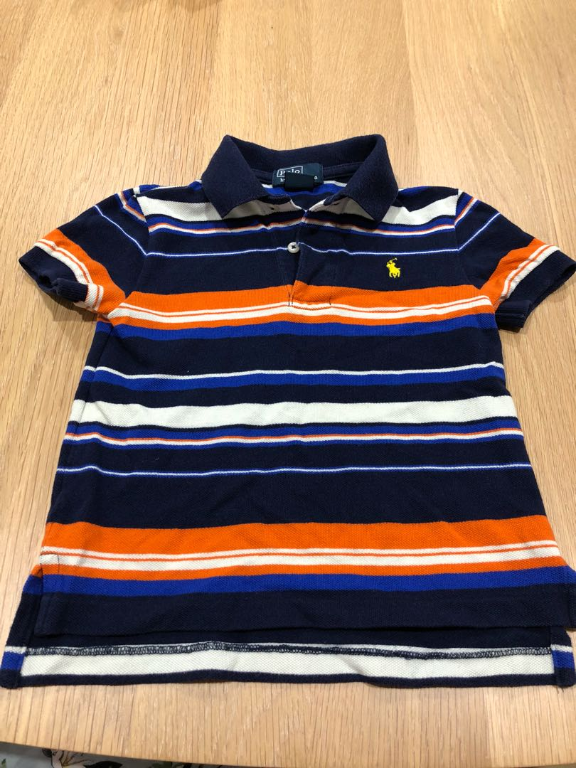 Pre-owned POLO by Ralph Lauren boys striped polo t-shirt