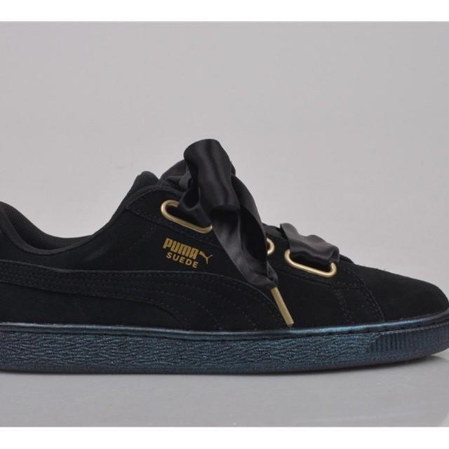 quality design c0e54 63655 Puma Basket Heart in Black Suede, Women's Fashion, Shoes on ...