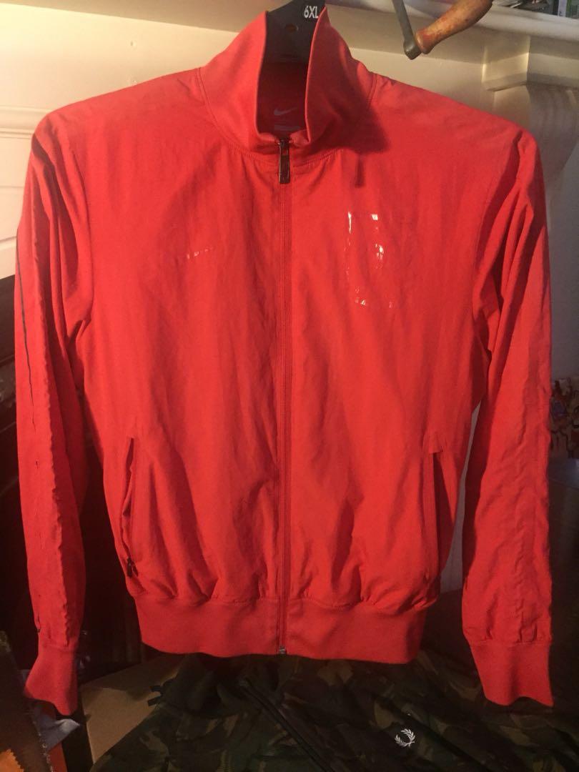 Rare French Football Federation all red Nike jacket Medium