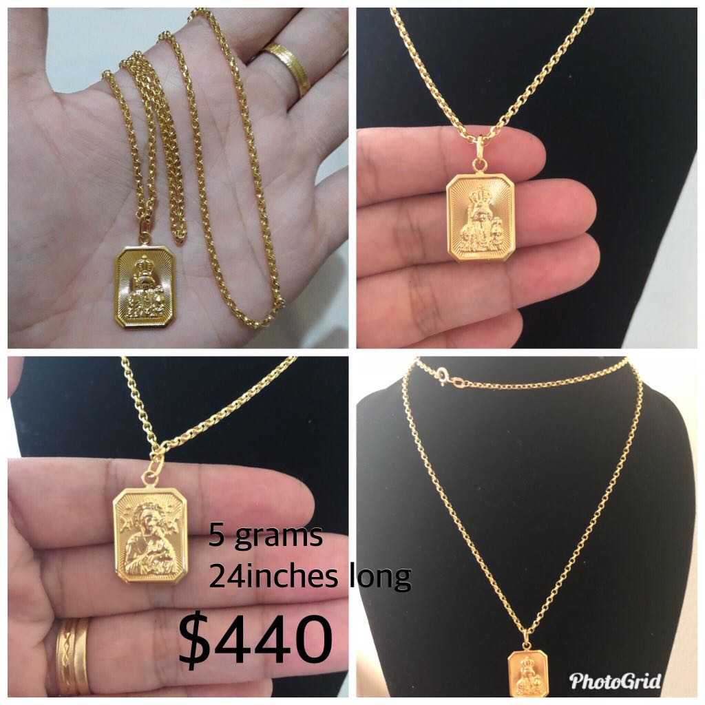 Real 18ct solid gold necklace
