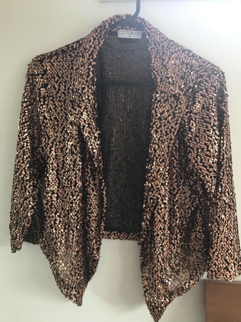 rose Gold jacket sequins
