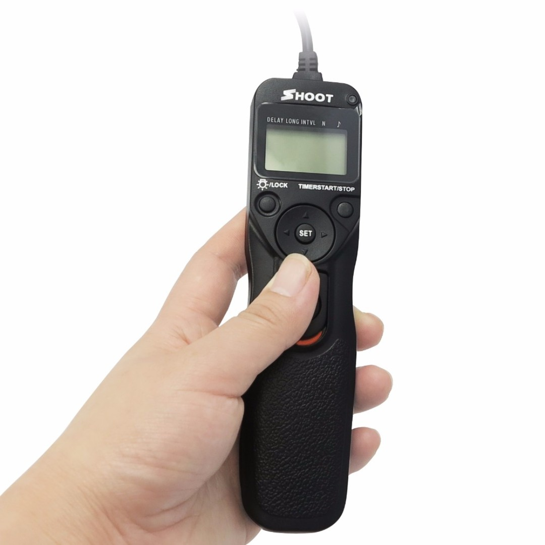 SHOOT Intervalometer Wired Remote Timer Shutter Release for DSLR Camera (Please refer to below for option)