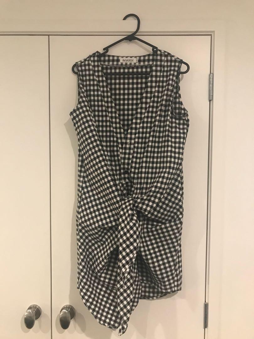 Sleeveless Tie Dress
