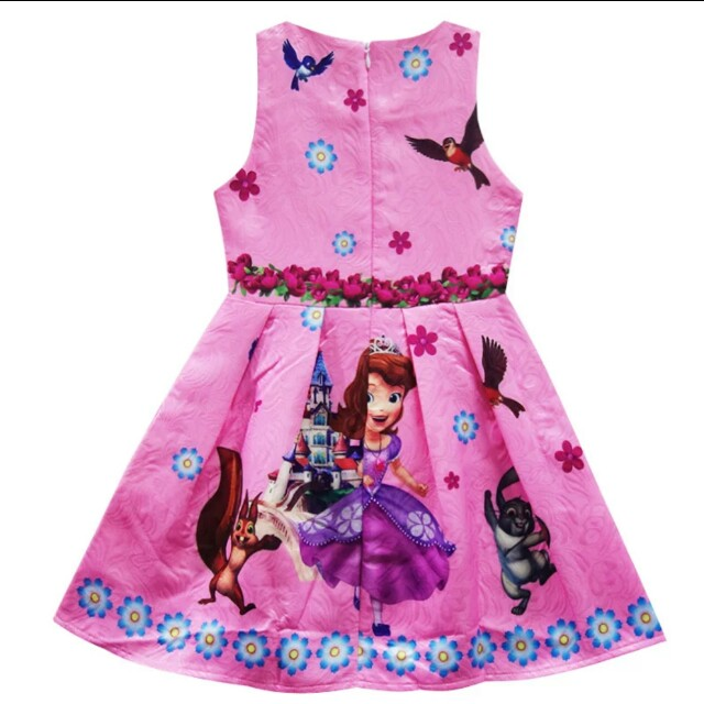 Sofia Dress Pink Girls Party Dress Kids, Babies & Kids, Girl\'s ...
