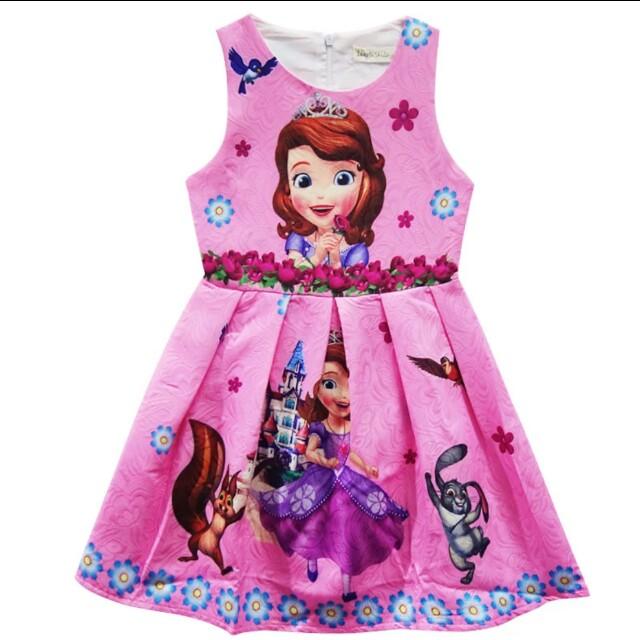 Sofia Dress Pink Girls Party Dress Kids, Babies & Kids, Girl\'s ...