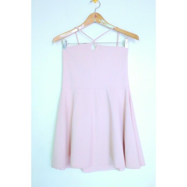Soft pink halter dress
