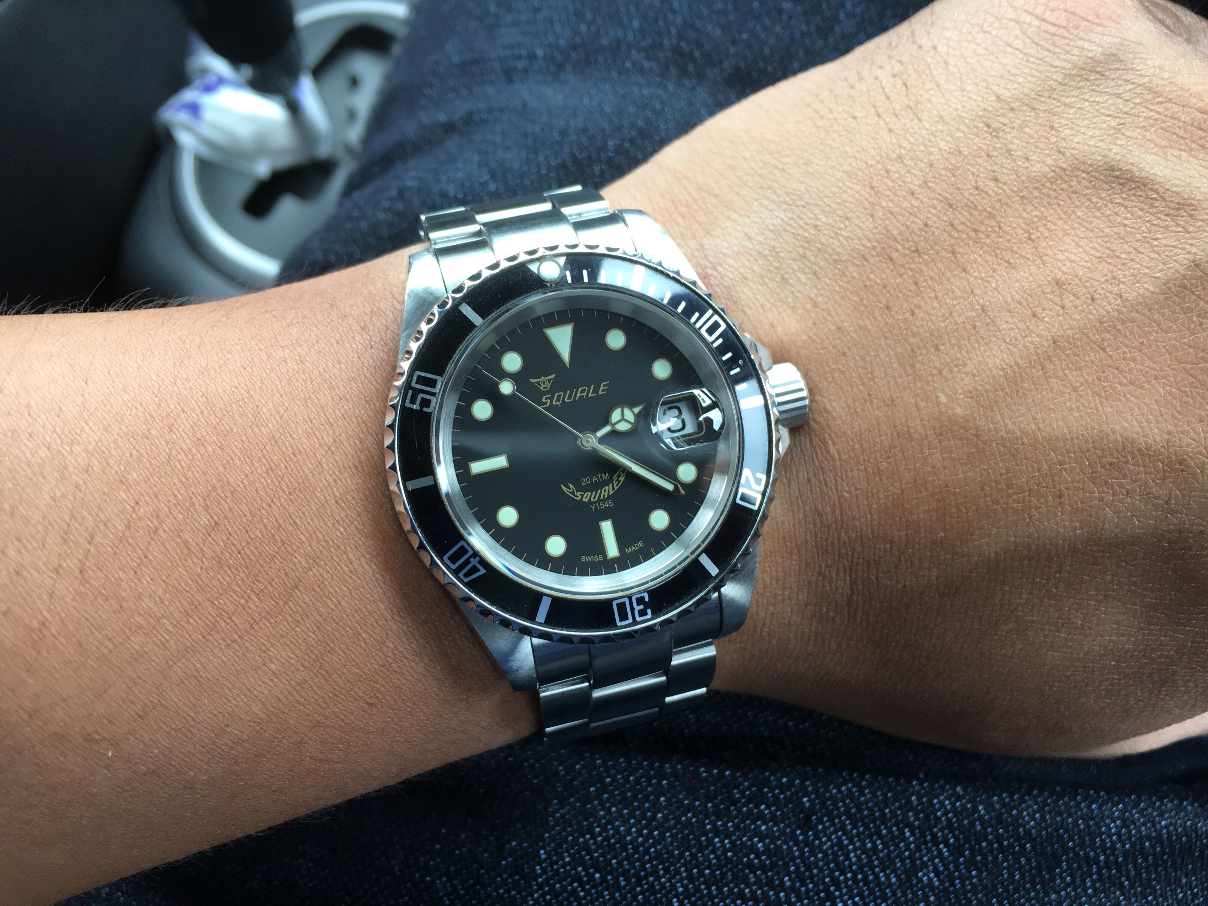 squale 20 atmos diver submariner watch jam men s fashion watches