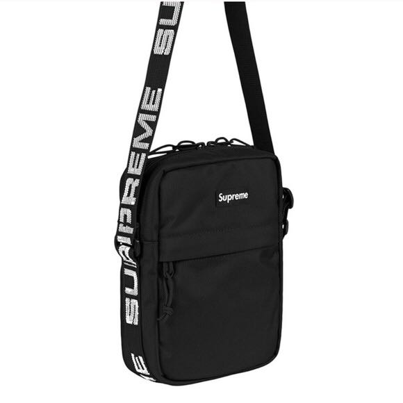 Supreme shoulder bag ss18. Black. ad6ab49445422