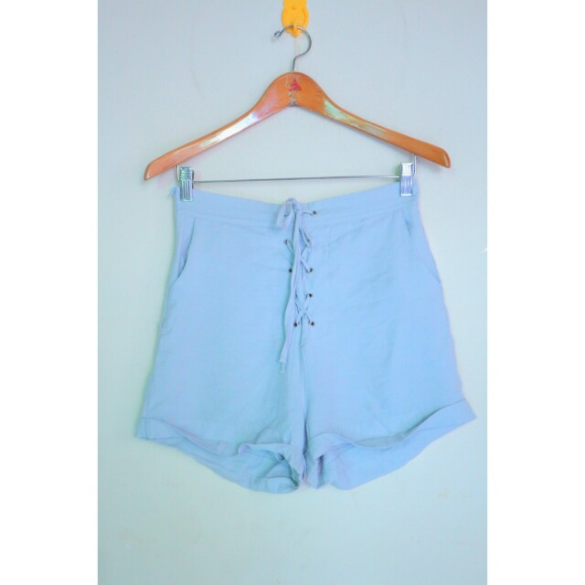 The editor's market grey lace up shorts