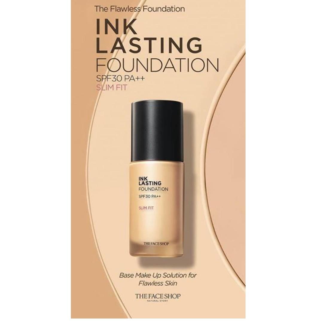 THE FACE SHOP Ink Lasting Foundation Slim Fit  V203 br med beige