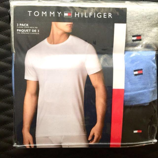 👍Tommy Hilfiger 三件圓領T恤(可當內搭衣也可外穿)