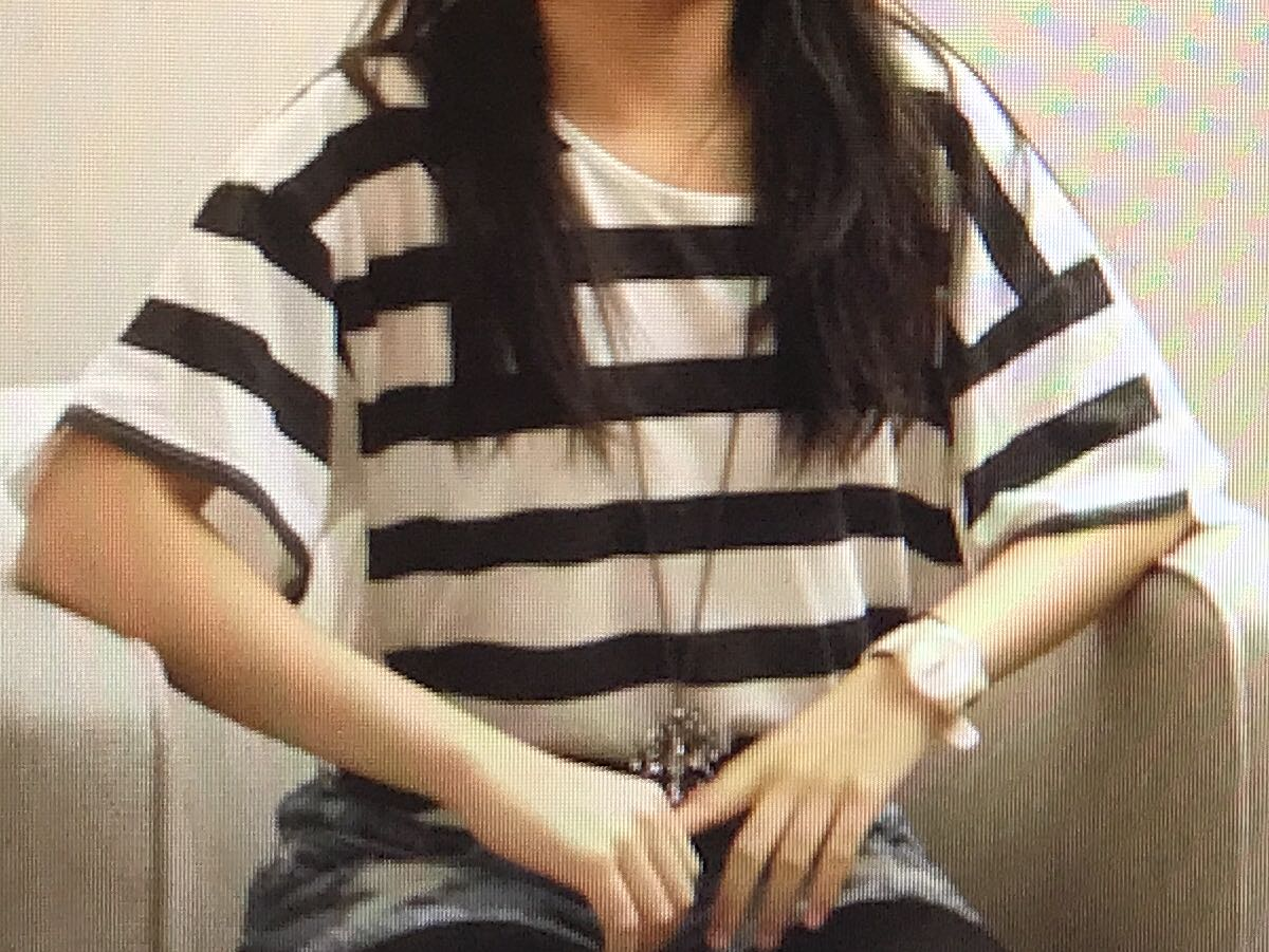 Topshop black and white striped oversized shirt