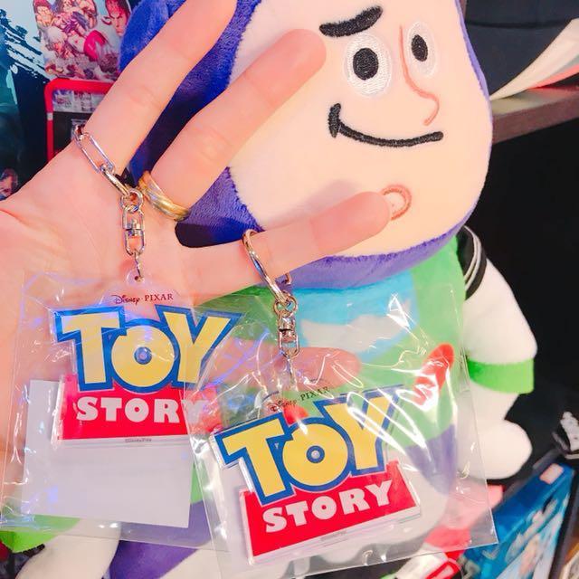 TOYSTORY 玩具總動員logo壓克力鑰匙圈
