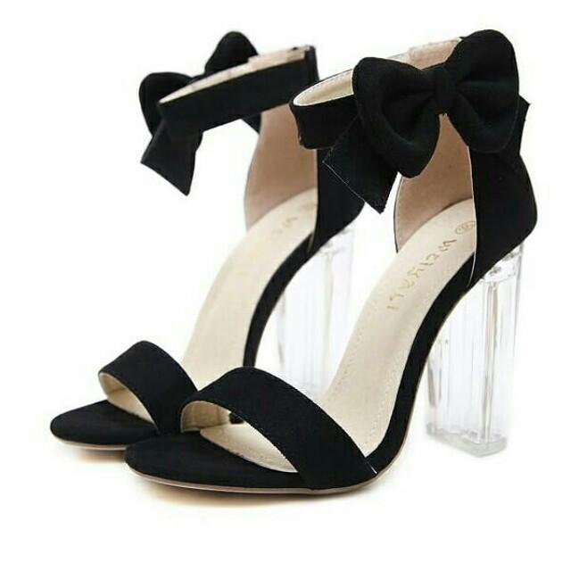13a629916f2e Transparent crystal heels shoes