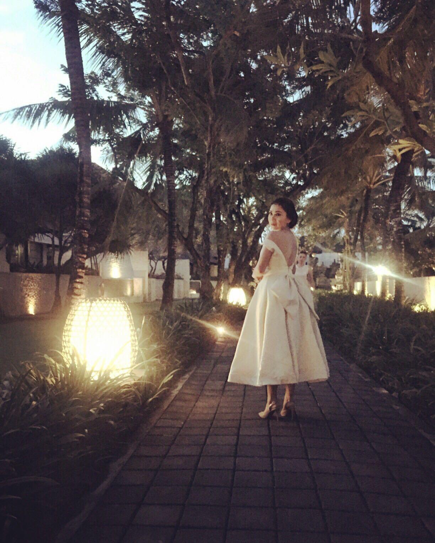 Wedding dress midi by designer elizabeth cindy