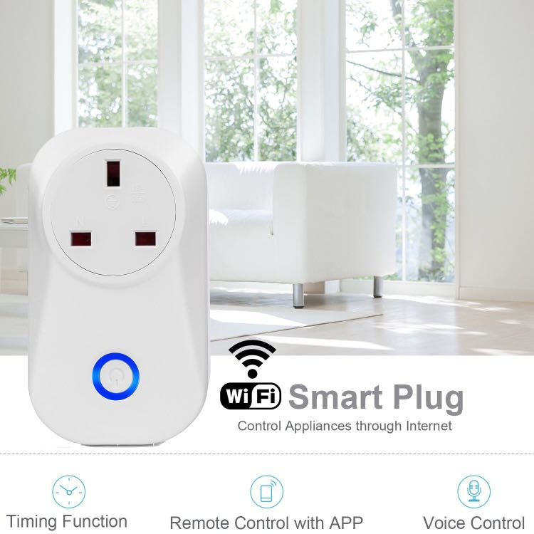 Wi-Fi Smart Plug No Hub Required, Control Your Devices From Anywhere (UK Plug)