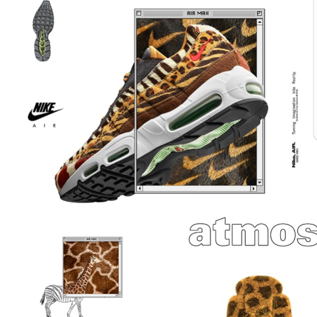 cdbce6df2a WTS / WTT DS Nike Air Max 95 Atmos Animal Pack 2.0 (US11), Men's Fashion,  Footwear, Sneakers on Carousell