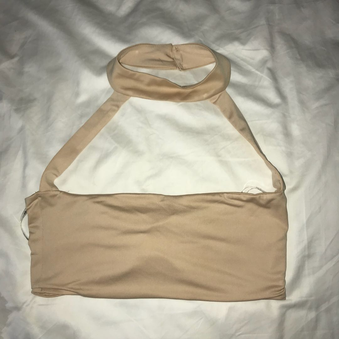 Zachary The Label Nude Crop Top