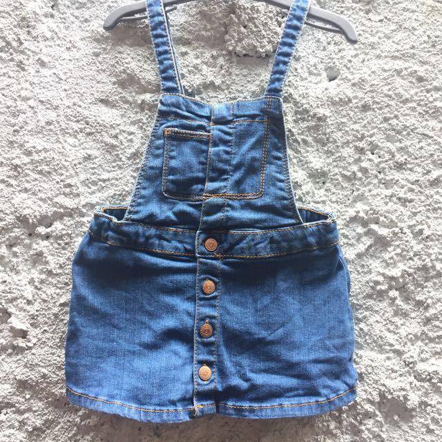 Zara baby overall dress 9-12