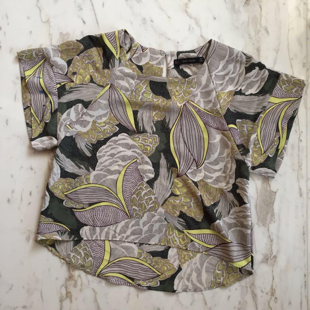Zara Batik Flower Top