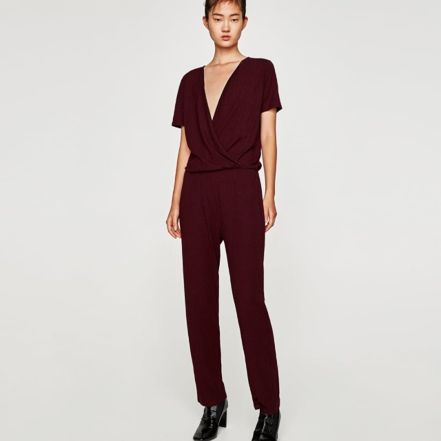 ed2e139b9a Zara flowing crossover jumpsuit