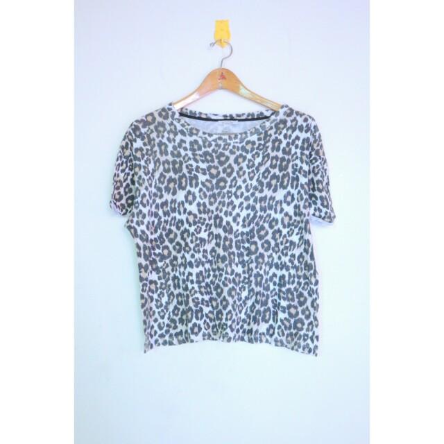 Zara leopard top