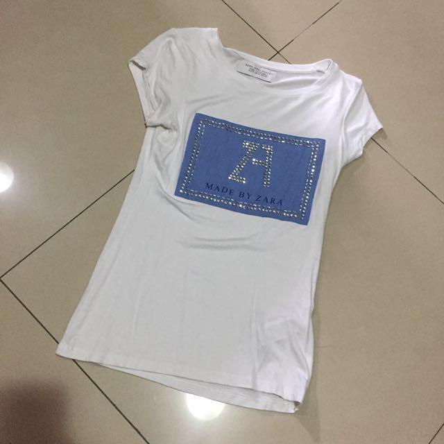 Zara logo T-shirt  上衣