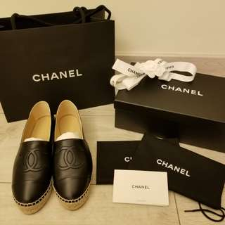 CHANEL Espadrilles Black 黑色 草鞋