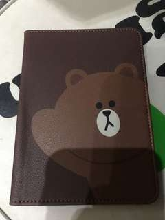 Line Brown passport cover