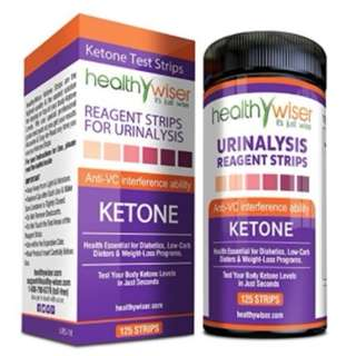 125 Ketone Test Strips. Testing Levels of Ketones Diabetics LCHF Ketogenic Atkins Paleo Diets