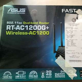 BNIB ASUS RT-AC1200G+ dual band router