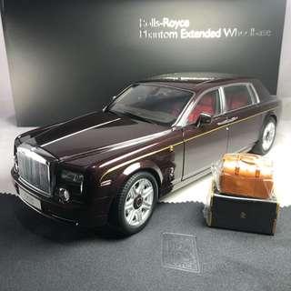 1/18 Kyosho Rolls Royce Phantom EWB deep garnet special edition