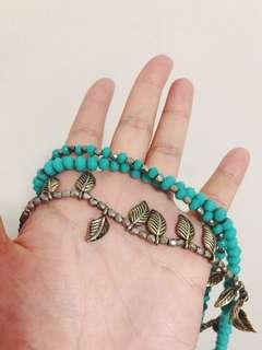 Blue necklace /choker