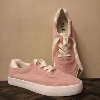 S&H Suede Pink Sneakers