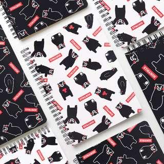 Kumamon Cuteness Spiral Ruled Notebook A5