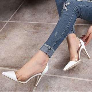 降!性感透明尖頭鞋