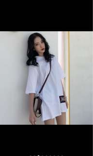 [PO] Korean Fashion Casual Black Dress Loose Blouse